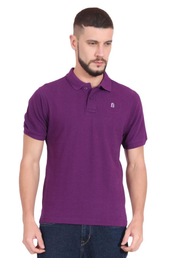Plain Purple Polo T shirt for Men